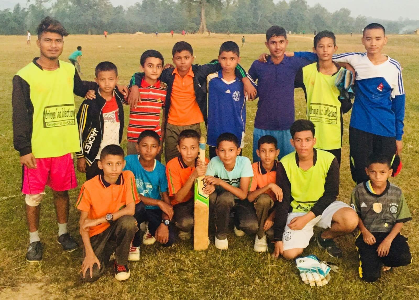 मध्यपश्चिम क्रिकेट क्लबकाे यु–१४ टिम घोषणा