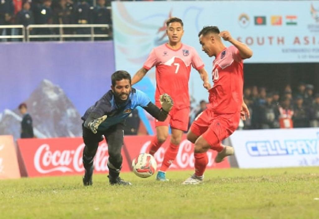 नेपाल र श्रीलंका १-१ काे बराबरीमा