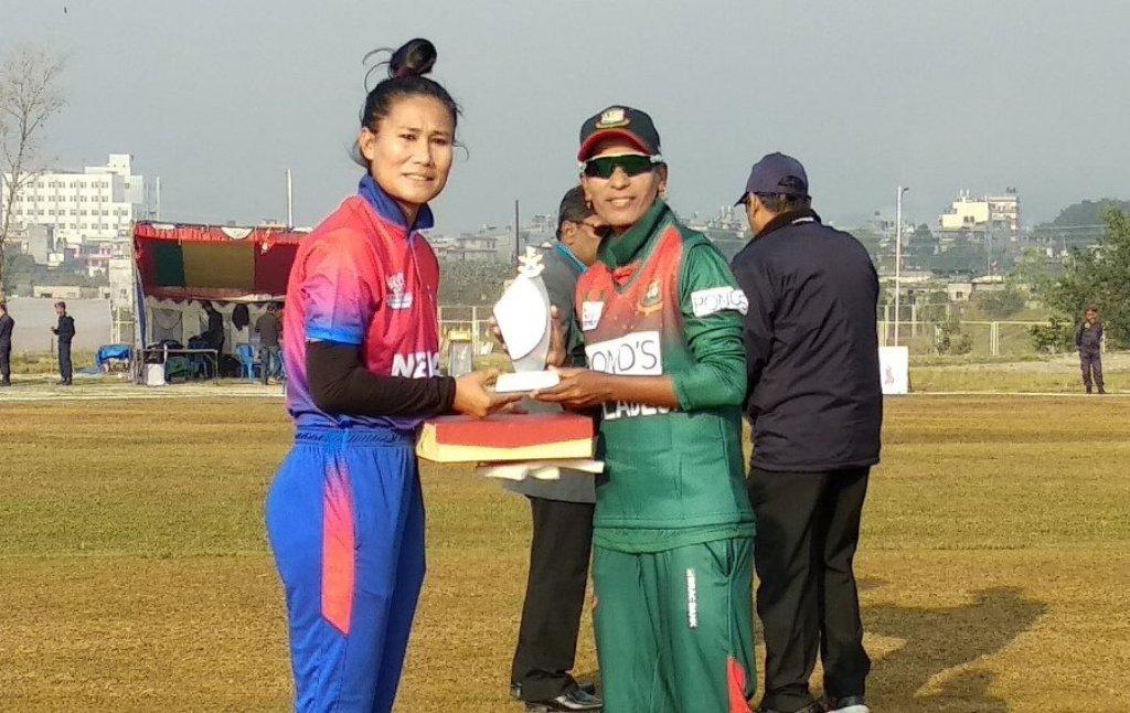 महिला क्रिकेट : बंगलादेशसँग नेपाल  १० विकेटले पराजित